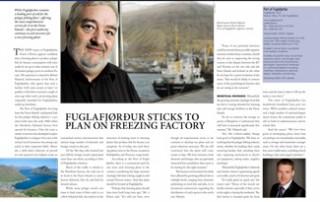 Fuglafjørður Sticks to Plan on Freezing Factory pp 56-57