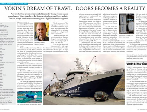 Vónin's Dream of Trawl Doors Becomes a Reality