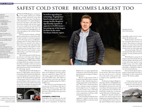 Safest Cold Store Becomes Largest Too